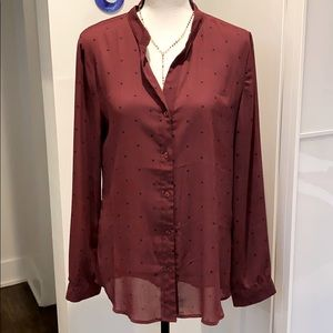 HAWTHORN 41 ladies long sleeve blouse w/polka dots
